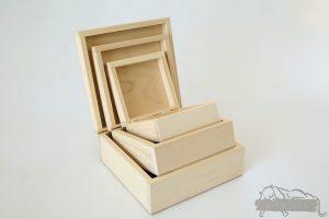 Drewniane pudełka na prezent