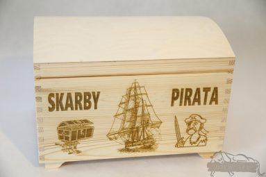Drewniane pudełko na koperty ślubne małe-grawer 18