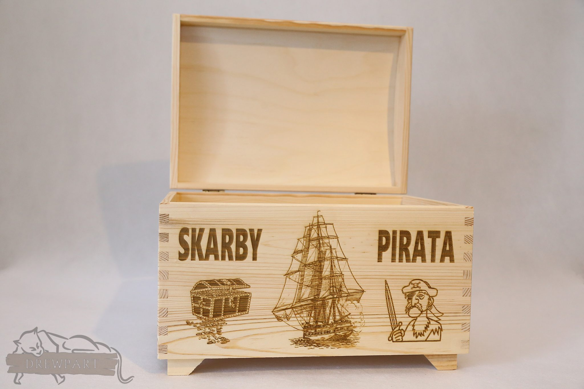 Drewniane pudełko na koperty ślubne małe-grawer 19