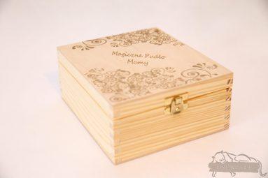 Drewniane pudełko na koperty ślubne małe-grawer 8
