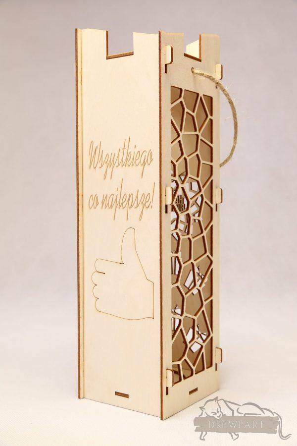 Pudełko na wino ażurowe - urodziny 1