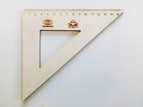 Przybory szkolne z drewna + logo 3